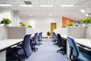 office cubicles after improving workplace ergonomics